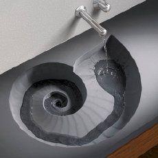 High Tech Ammonite Sink