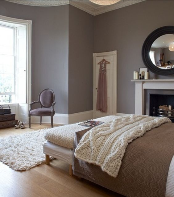 Beautiful Color Schemes For Bedrooms And Dark Rooms: Grey And Taupe Color Scheme