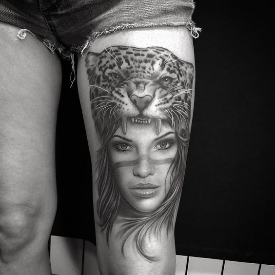 Jaguar Girl Tattoo