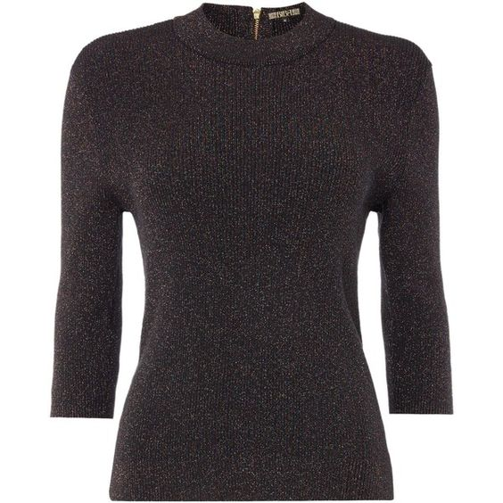 Biba Metallic short sleeve turtle neck jumper ($84) ❤ liked on Polyvore featuring tops, sweaters, women, cotton turtleneck, short sleeve turtleneck tops, turtle neck jumper, short sleeve turtleneck and metallic sweater
