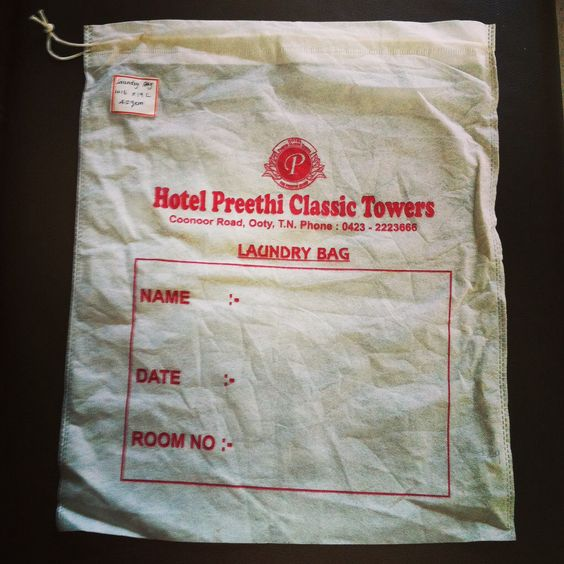 Laundry Bag 16w X 19l 45 Gsm Custom Bags Non Woven Bags Eco Friendly Bags