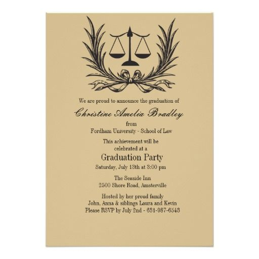 185 best law school graduation invitations images on Pinterest