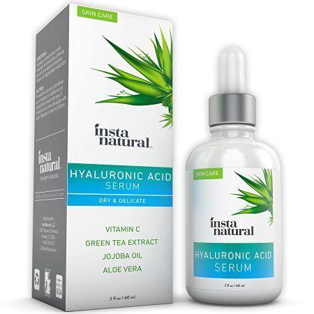 InstaNatural Acide Hyaluronique Sérum – Meilleur Anti -âge Soins de la peau produit pour le visage avec la vitamine C Sérum , la vitamine E…