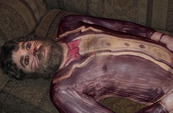 Zane Lamprey: When Steve McKenna passed out on tour, we did this! Yes, his eyes are closed...