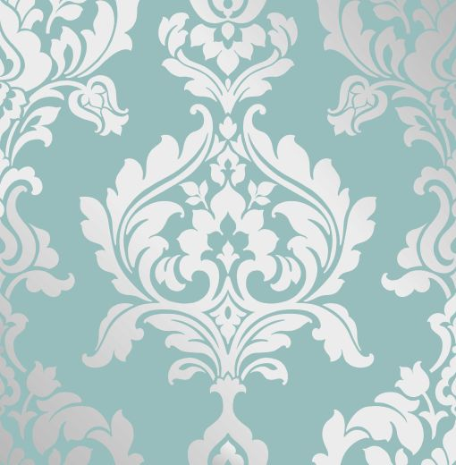 teal metallic silver damask wallpaper wallpaper