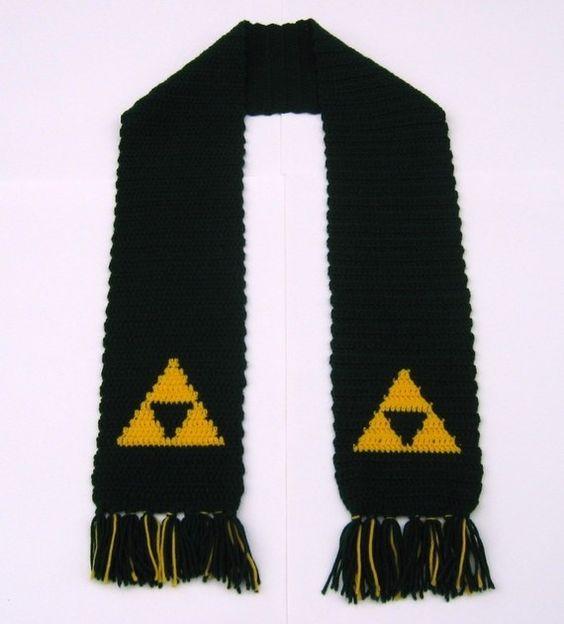 Zelda Scarf Knitting Pattern : Legend of zelda inspired triforce scarf legends