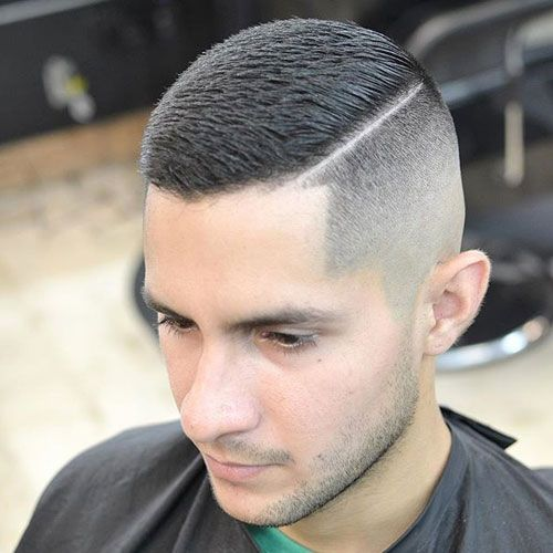 Buzz Cut Fade With Part
