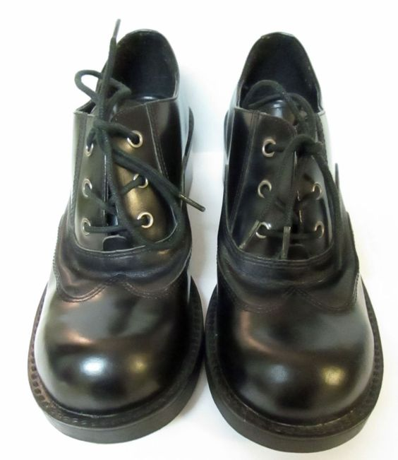 Nine & Co. Chunky Heel BLACK Oxfords 6.5 M Lace Up Shoes Never Worn Rd. Desc. #NineCo #Oxfords