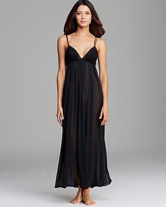 Oscar de La Renta Pink Label Romantic Whispers Long Nightgown | Bloomingdale's