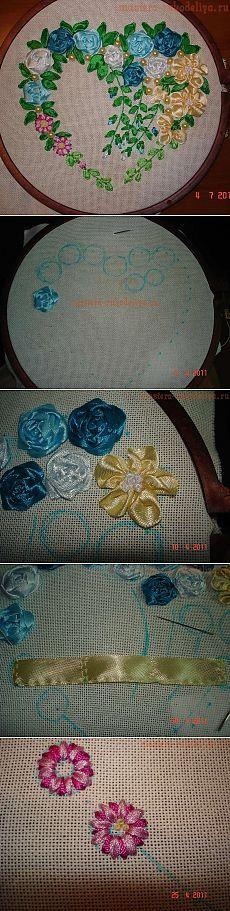 Практический урок по вышивке лентами от Ирины Лысенко.