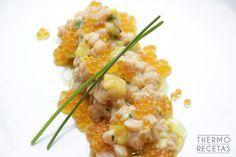 Tartar de salmón con mango al aroma de vainilla - http://www.thermorecetas.com/tartar-salmon-mango-al-aroma-vainilla/