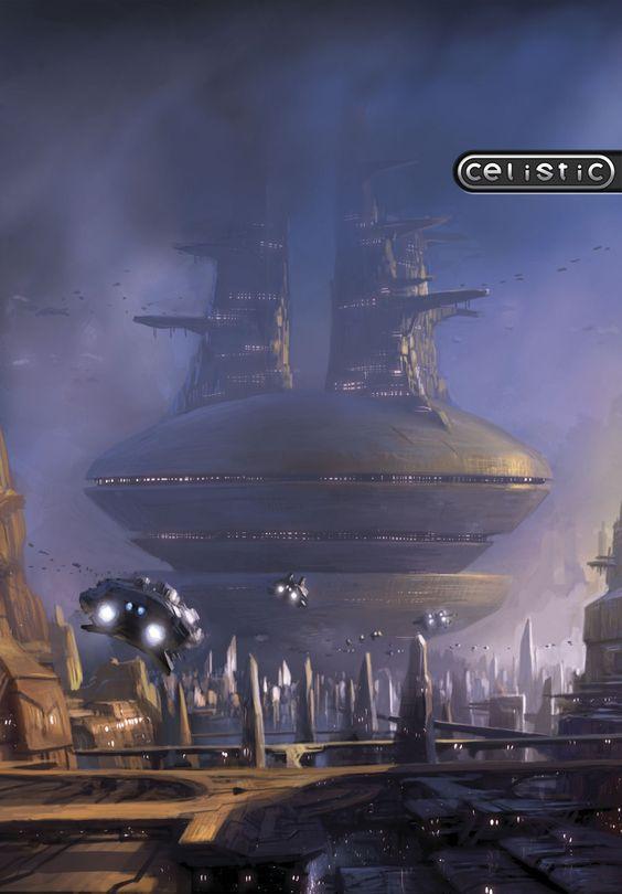 Futuristic City, Celistic Concept Art by Zellim