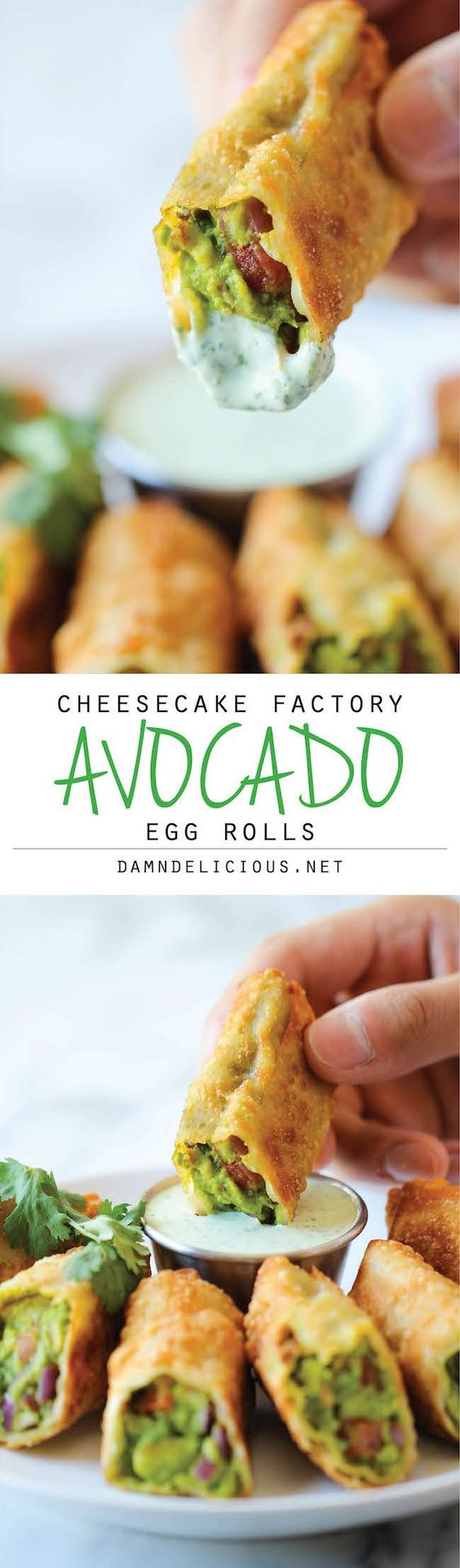 Cheesecake Factory Avocado Egg Rolls - One of my FAV's but I love the easy Tamarind Thai sauce w these!