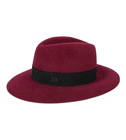 MAISON MICHEL Henrietta hat (Burgundy