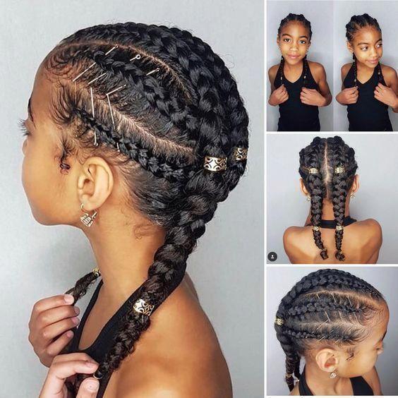 Coiffures De Race Mixte Boucles Simples Pour Biracial Gi Coiffures Afro Enfants Coiffure Fillette Idees De Coiffures Coiffure