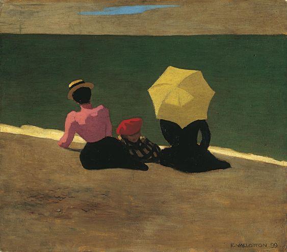 Félix Vallotton, Sur la plage, 1899, huile sur carton, 42 x 48 cm, collection particulière ©