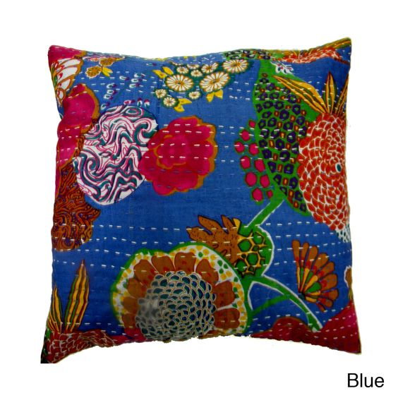 Ethnic Kantha Work Pillow Cover India