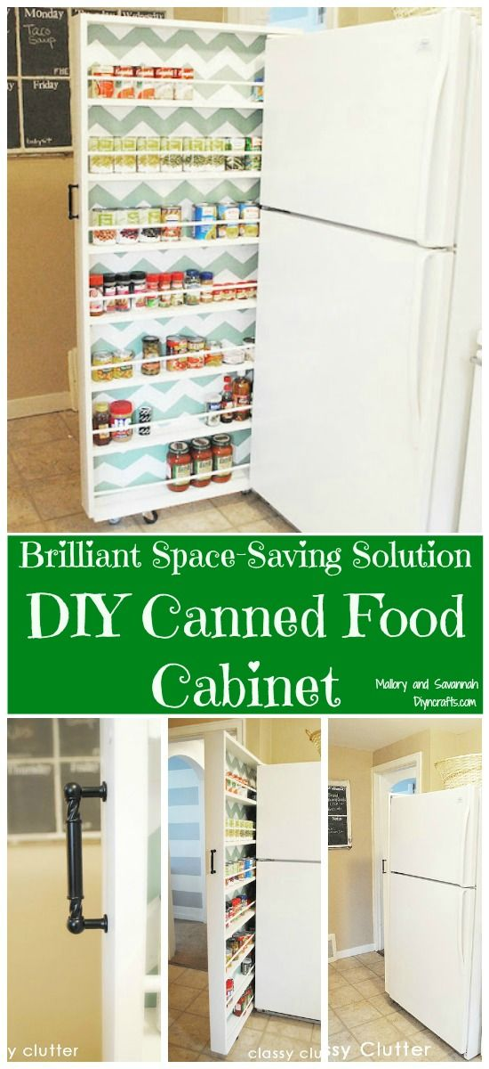 Brilliant Space Saving Solution Diy Canned Food Cabinet Cabinets Small Spaces And Worth It