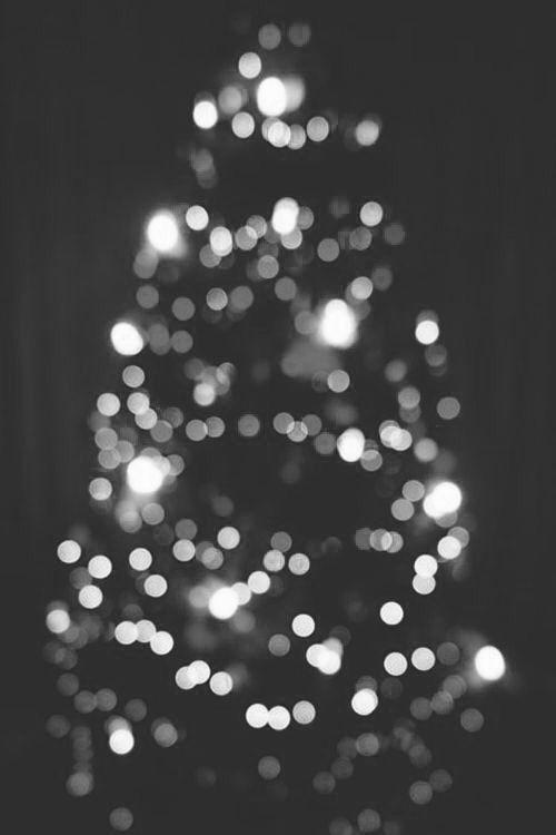 Black White Christmas Tree Lights Grunge Aesthetic Black White Christmas Black White Christmas Tree White Christmas Tree Lights