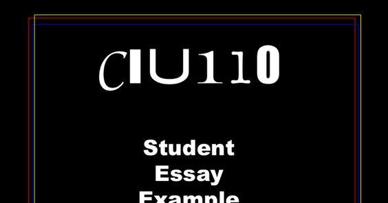 Student Essay Example 2 Assessment Exemplars Pinterest Chang - student essay