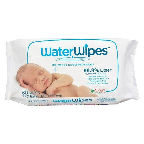 WaterWipes Single Pack 60 Wipes | Can be stuffed in breastmilk poop and pee diapers and washed, dried, then thrown away. Easy.