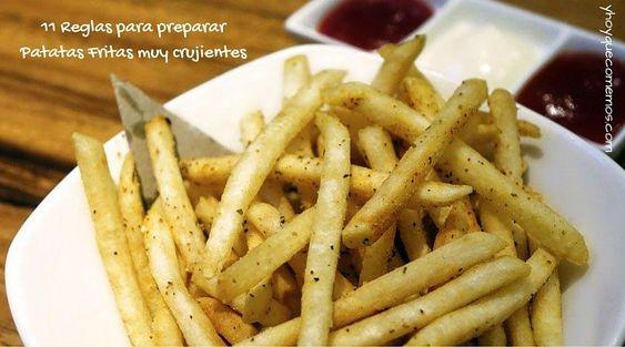 11 reglas para preparar patatas fritas muy crujientes