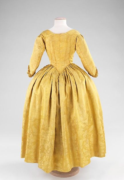 Young Girl's Dress (image 2) | British | 1775-85 | silk | Brooklyn Museum Costume Collection at The Metropolitan Museum of Art | Accession Number: 2009.300.1340