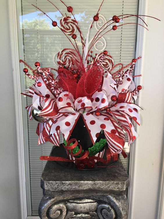 Christmas Centerpiece, Holiday centerpiece, Snowman centerpiece by DecoWreathBoutique on Etsy
