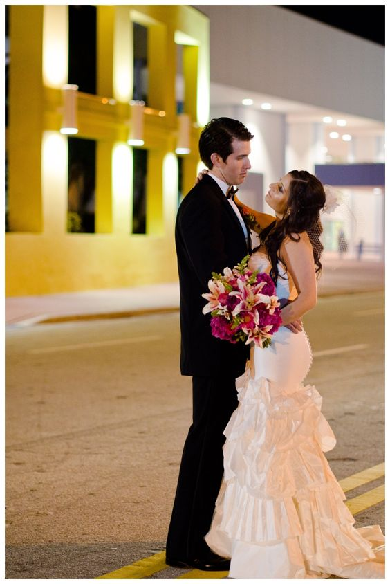 Bride and Groom Portraits. Miami Wedding. South Beach Wedding. Brittany Anderson Photography