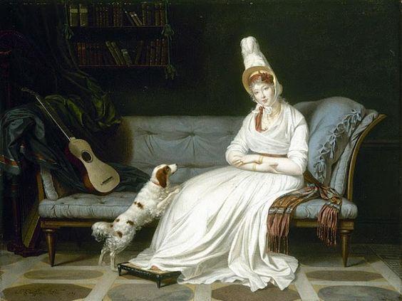 Women and Music in Painting 16-18th c, Louis Gauffier Portrait of Elizabeth Vassal
