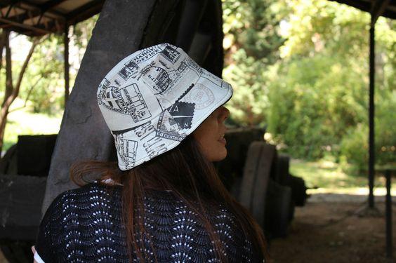 Gorro de Lluvia - Correo de LoLahn Handmade - Bolsos, mochilas, cuellos, sombreros y gorras. por DaWanda.com