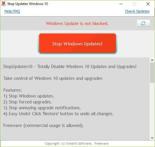 اداه ايقاف تحديثات ويندوز 10 بضغطه واحده وتشغيلها بضغطه واحده ويندوز 10 دائما يبحث عن التحديثات الجديده حتي في حاله ايقافها من داخل الوي Windows 10 Windows 10 Versions Tips