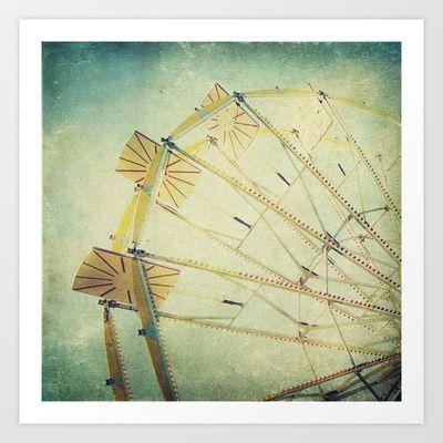 Ferris Wheel Art Print by Honey Malek - $17.00