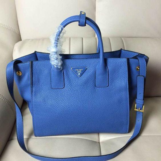 discount authentic prada bags - Prada BN2693 Women Medium Vit Daino Calf Leather Shopping Tote ...