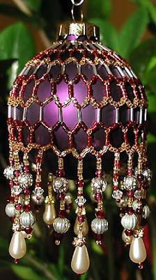 This stunning purple Christmas ornament is a work of art in itself!