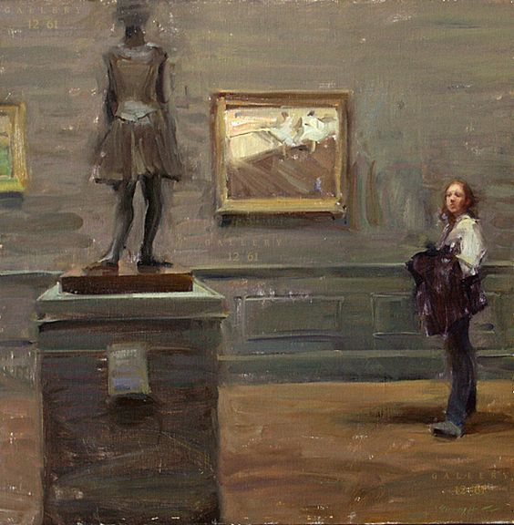 "Ho_Quang   Degas at the Met Oil, 20 x 20"" (Sold) Gallery 1261 :: Denver, Colorado -"