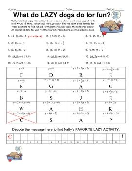 Printables Finding Slope Worksheet activities equation and student on pinterest this is a 15 question puzzle finding the point slope given slope