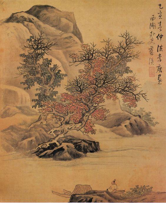"""thorsteinulf: """" Lan Ying (1585-1684) - Landscape after Li Tang """""""