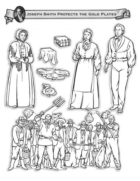 Joseph Smith Protects The Golden Plates Coloring Page Joseph Smith Coloring Page
