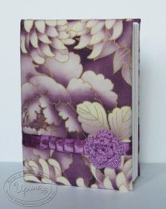 Purple notebook, 100% hand-made