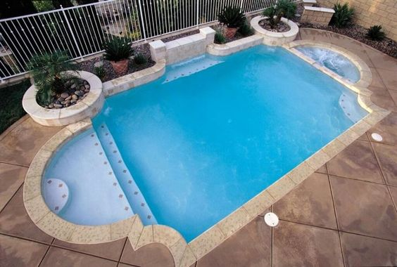 Grecian-style inground pool