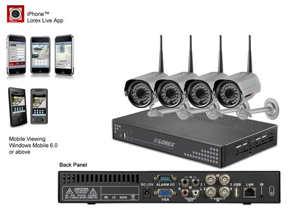 4 Camera Digital Wireless Video Surveillance -   This digital wireless surveillance system offers a whole new level of security surveillance to the consumer/small business market.  It's a versatile and full-featured security DVR system that guarantees powerful performance in a compact size. Use your smartphone, tablet, PC, or Mac to connect, view and control your system. Internet setup wizard, triple touch operation and dedicated Apps give you the peace of mind at the tip of your fingers.