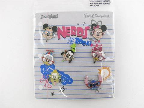 Nerds Rock Disney Parks Pin Set of 7