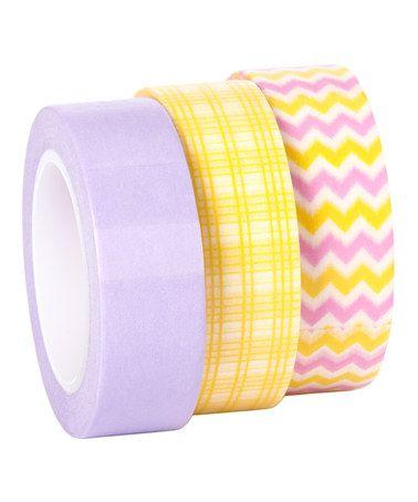 Look what I found on #zulily! Pastel Washi Tape - Set of Three #zulilyfinds