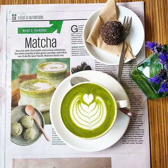 beautiful shot from our friends at @naturesprovidore of a #mixnmatcha latte