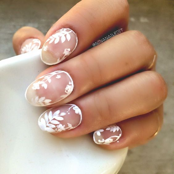 I had to bust out the white negative space outline nails again. I couldn't help myself! #ninanailedit #boston #nailart