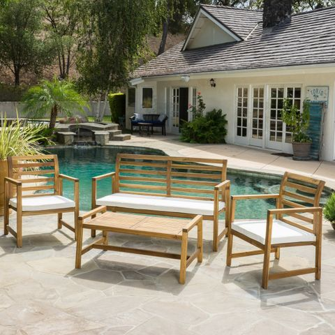 Buy Sets Outdoor Sofas Chairs Sectionals Online At Overstock Our Best Patio Furniture Deals Wood Patio Patio Patio Furniture Deals
