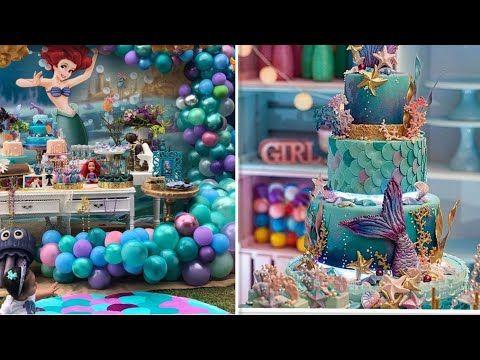 افكار لتجهيز لحفلة بنوته حفلات حورية البحر اريلan Ideas For Preparing Parties With Mermaid Decor Youtube Birthday Cake Desserts