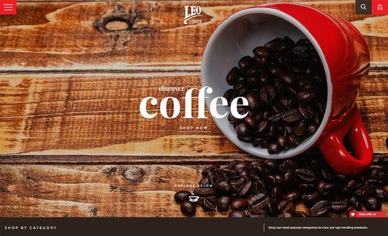 #Featured of the 18 Jan 2017 Leo Coffee by  Louder Design http://www.csslight.com/website/18723/Leo-Coffee