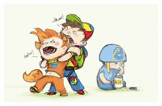 This is so sad!  But so true! (Firefox, Chrome, and Explorer, if you can't tell from the thumbnail)